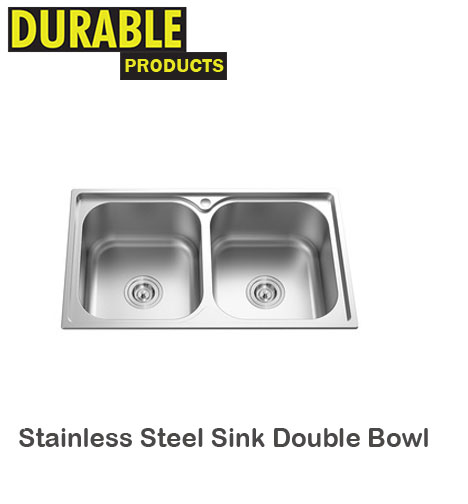 Stainless Steel Sink Double Bowl Build Durable