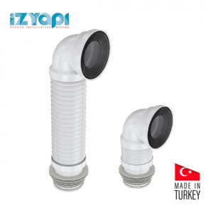Izyapi Extendable WC Elbow Connector 100-600 mm / 90-100-110 mm