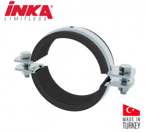 Inka Heavy Duty Pipe Clamp With Rubber Profile (Without Nut) Size 4