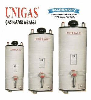 UniGas 30 Gallons Super Gas Water Heater / Geyser