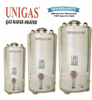 UniGas 30 Gallons Super Deluxe Gas Water Heater / Geyser