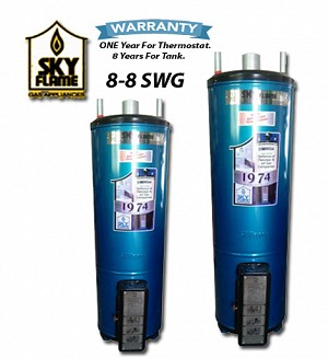 SKY Flame 30 Gallons 8-8 SWG Gas Water Heater / Geyser
