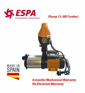 Espa Water Booster Pump 15-3M Combo (Made In Spain) Multi-stage Pressure Pump