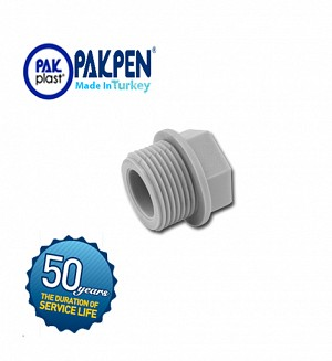 PPRC Threaded Plug (PN-20) PAKPEN PAKPLAST
