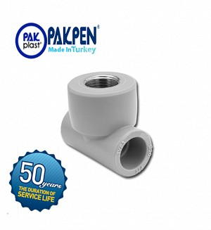 PPRC Female Threaded Tee (PN-20) PAKPEN PAKPLAST