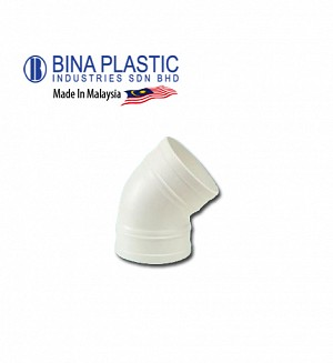 Bina Plastic Upvc Plain Bend 135° (Elbow 45°)