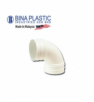 Bina Plastic Upvc Sweep Bend 91.25° (Elbow 90°)