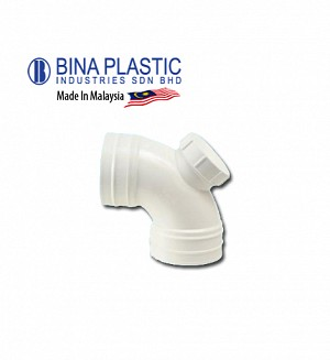 Bina Plastic Upvc Sweep Bend With I/O 91.25° (Plug Elbow)