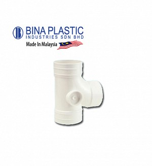 Bina Plastic Upvc Equal Single Branch (Plain Tee)