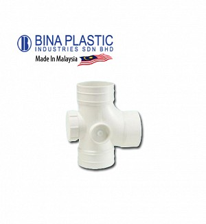 Bina Plastic Upvc Equal Single Branch With I/O (Plain Tee)
