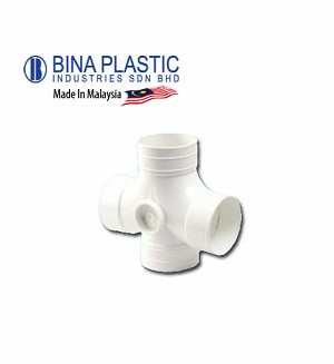 Bina Plastic Upvc 2-Way Junction (Cross Tee)