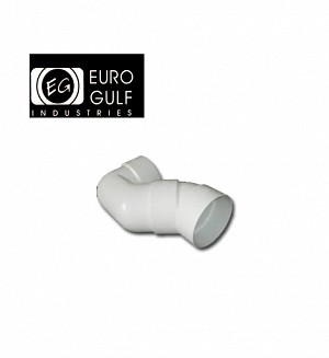 Euro Gulf Upvc P-Trap w/Elbow 45° Fitting (ASTM D2466)