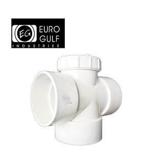 Euro Gulf Upvc Plug Tee Fitting (ASTM D2466)