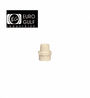 Euro Gulf Upvc M/Adop/V.Socket Fitting (ASTM D2466)