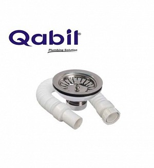 Qabil Sink Waste(Brass) With Pipe
