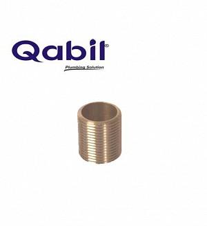 Qabil Full Thread Nipple (Brass) 1/2