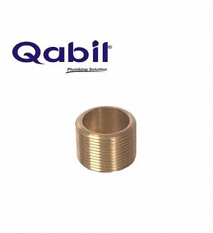 Qabil Full Thread Nipple (Brass) 1