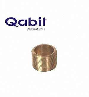 Qabil Full Thread Nipple (Brass) 1 1/4
