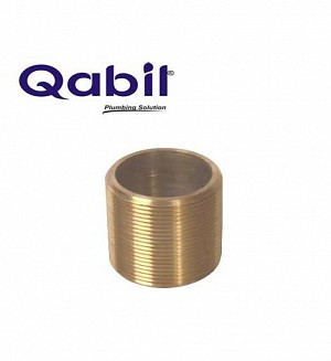 Qabil Full Thread Nipple (Brass) 1 1/2