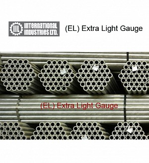 IIL GI (EL) Extra Light Gauge Pipes (Gross Per Nali)