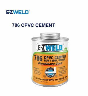 E-Z WELD 786 CPVC CEMENT Heavy Body, Orange