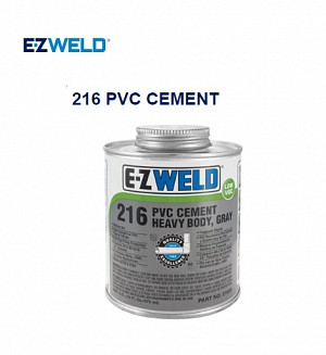 E-Z WELD 216 PVC CEMENT Heavy Body, Gray(480 ML)