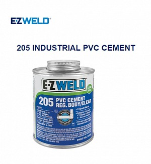 E-Z Weld 205 INDUSTRIAL PVC CEMENT REG.Body/Clear