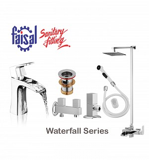 Faisal Waterfall Series Bath Set (Only Chrome)