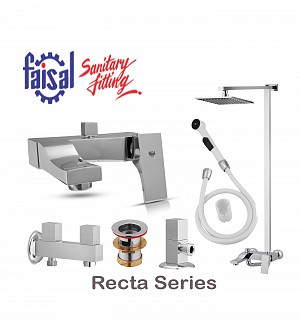Faisal Recta Series Bath Set (Only Chrome)