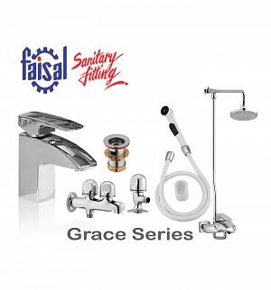Faisal Grace Series Bath Set (Only Chrome)