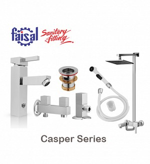 Faisal Casper Series Bath Set (Only Chrome)