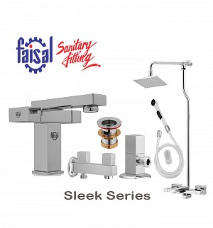 Faisal Sleek Series Bath Set (Only Chrome)