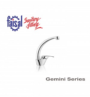 Faisal Gemini Bowl Sink Mixer (Only Chrome)