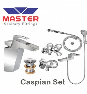 Master Gold Series Caspian Set With Saphire Hand Shower