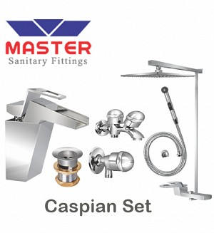 Master Gold Series Caspian Set With Overhead Rain Shower (Metal)