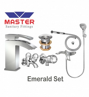 Master Gold Series Emerald Set With Saphire Hand Shower