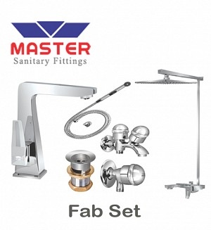 Master Gold Series Fab Set With Overhead Rain Shower (Metal)