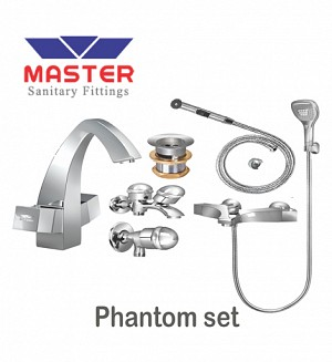 Master Gold Series Phantom Set With Saphire Hand Shower