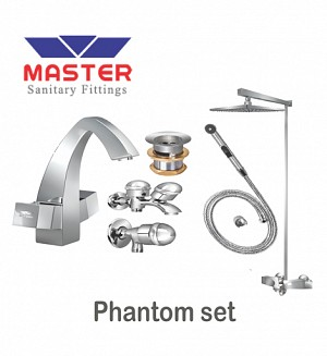 Master Gold Series Phantom Set With Overhead Rain Shower (Metal)