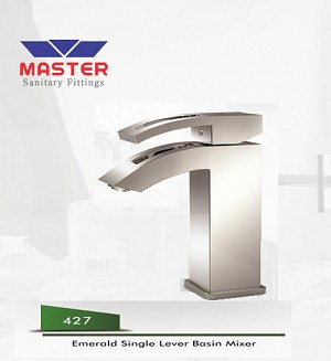 Master Gold Series Emerald Single Lever Basin Mixer