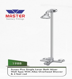 Master Susan Plus Bath Mixer Wall Type & Overhead Shower