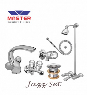 Master Jazz Set With Overhead Rain Shower (Metal)