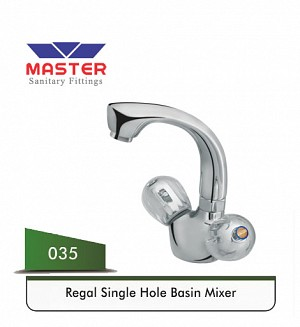 Master Regal Basin Mixer (Full Round) (035)