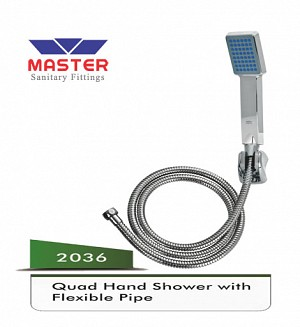 Master Quad Hand Shower With Flexible Pipe