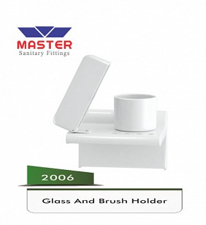 Master Plastic Glass And Brush Holder