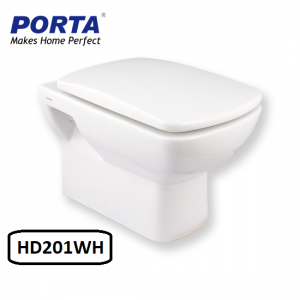 Porta Wall Hung Commode Model:(HD201WH)