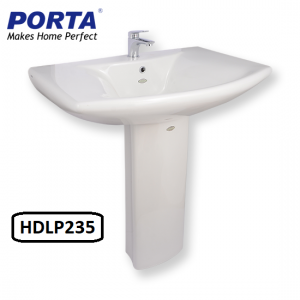 Porta Wash Basin with Full Pedestal Model:(HDLP235)