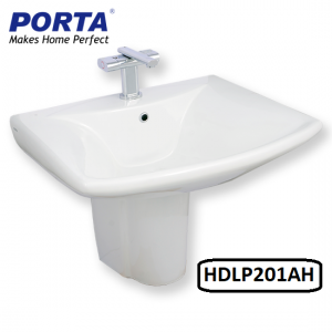 Porta Wash Basin with Half Pedestal Model:(HDLP201AH)