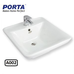 Porta Art Vanity Wash Basin (Fixing Above Counter) Model:(A002)