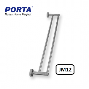 Porta Double Towel Rod 600mm Model:(JM12)